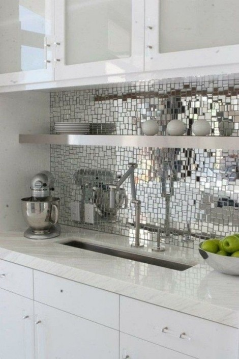 Мозаика из стекла на фартук кухни