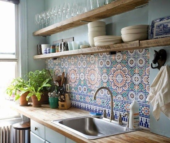Дизайн кухонного фартука 15
