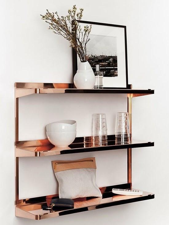 Медь в дизайне интерьера столовой 5