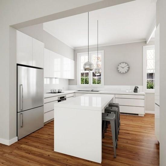 Кухня в белом цвете 7