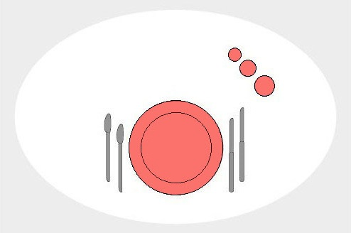 Сервировка стола к ужину (вариант 1).